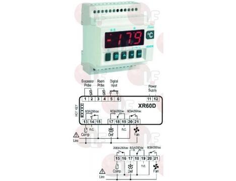 TERMOSTAT XR60D 230V PTC/NTC