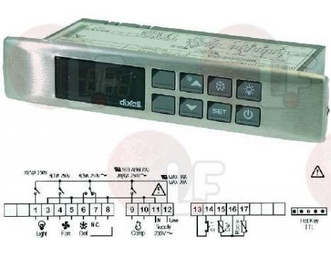 TERMOSTAT XW60L-5L0D0X 230V NTC
