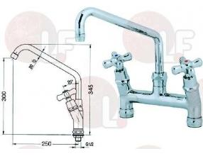 TWO-HOLE TAP MOUNTING DISTANCE 200 mm