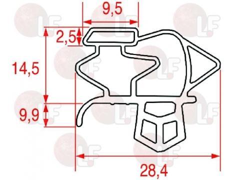 SNAP-IN GASKET 700x645 mm
