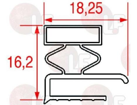 MIDDLE EDGED GASKET 518x377 mm