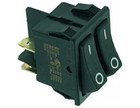 DOUBLE THREE-POLE SWITCH 16A 250V