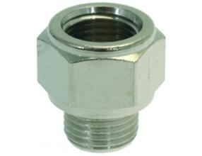 "NICKEL-PLATED FITTING o 1/8""M-1/8""F"