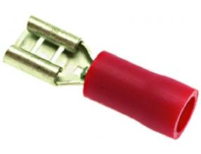 RED CABLE TERM F 4.8x0.8 mm 100 PCS
